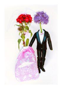 Blumen-Brautpaar